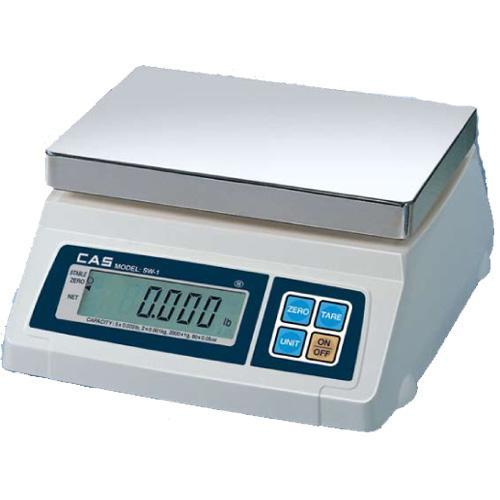 CAS CAS SW-1-5 Portable Digital Scale 5 lb x 0.002 lb Legal for Trade